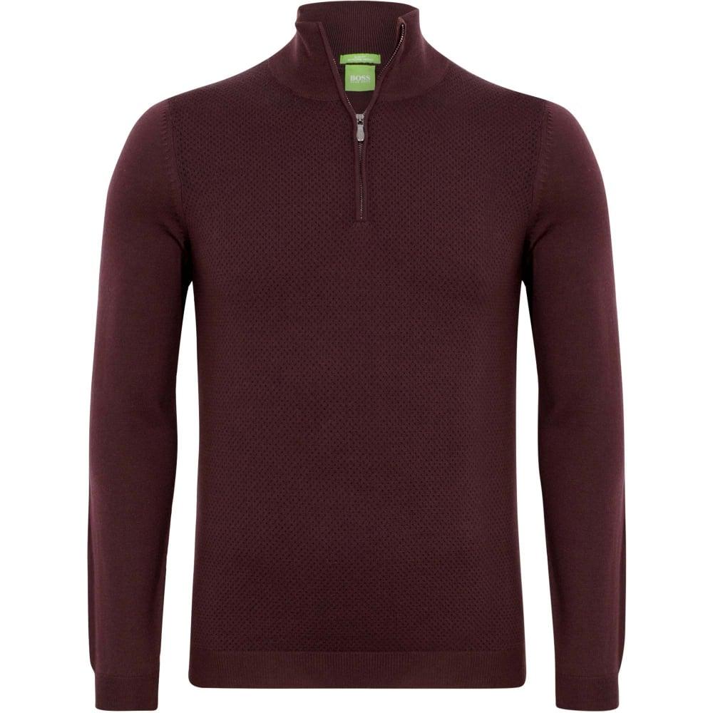 6eef6370755 Hugo Boss Green C-Corin 01 Bordeaux Slim Fit Sweater 50374868