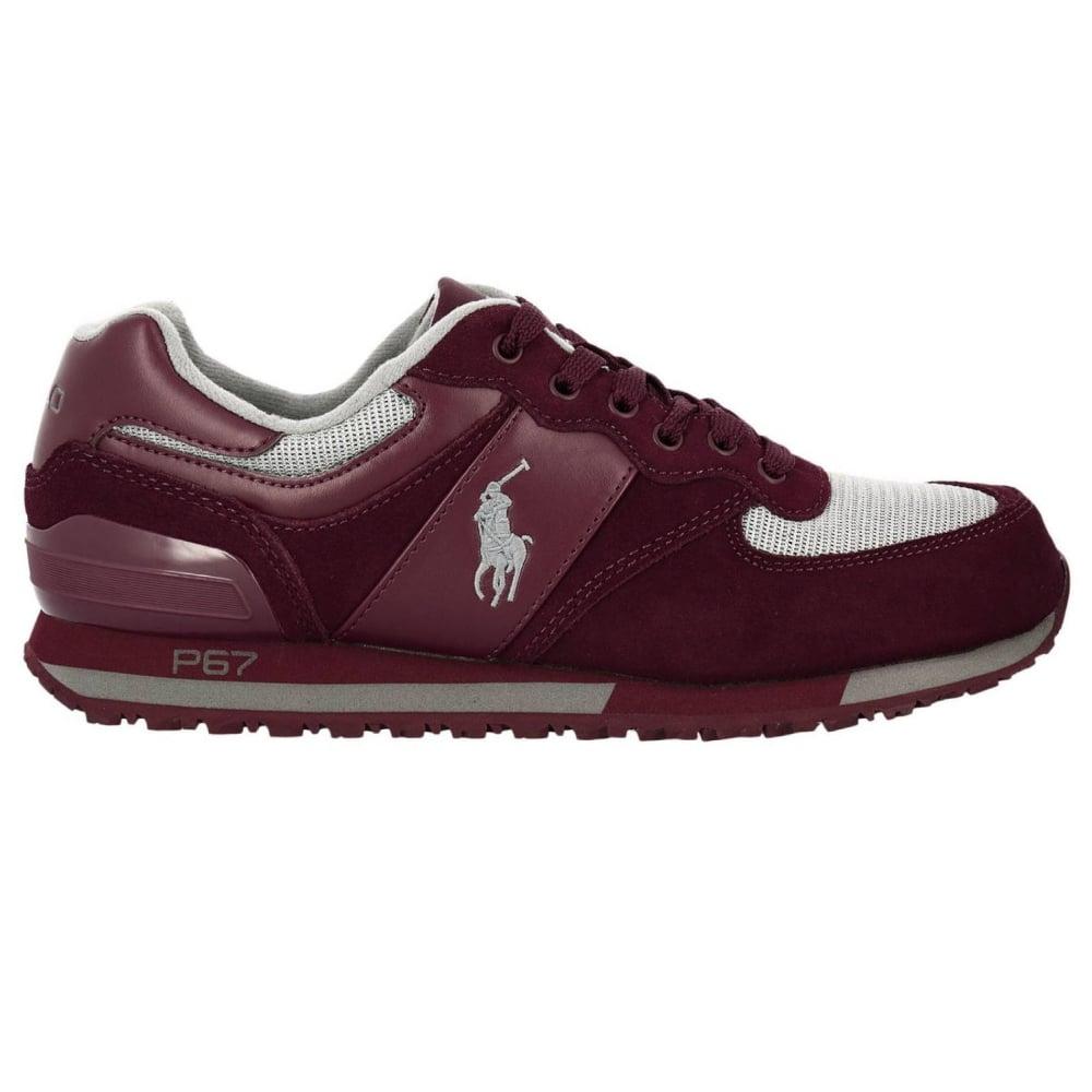 Ralph Lauren Suede Bordeaux Leather Sneakers 809668429 d2a0d650ec2