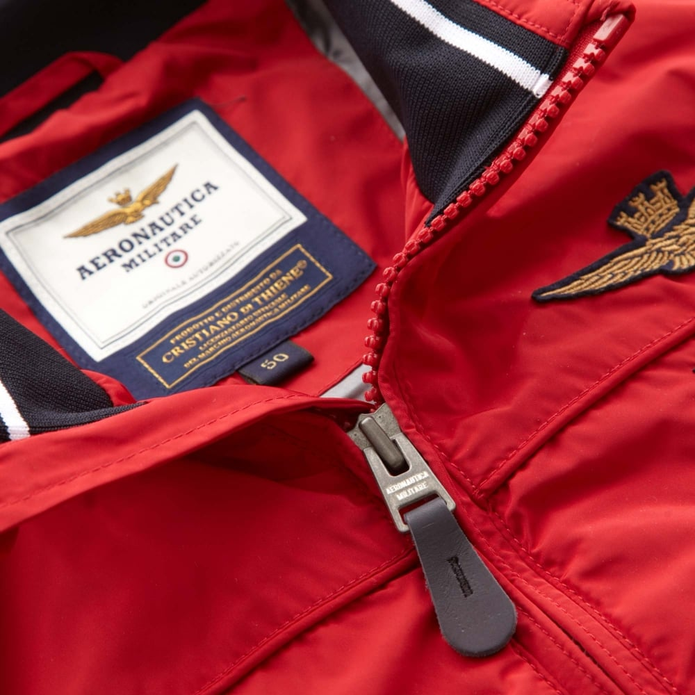 618e42137e5 Aeronautica Militare Bomber Jacket Slim Fit Red 181AB1620CT2098-19214