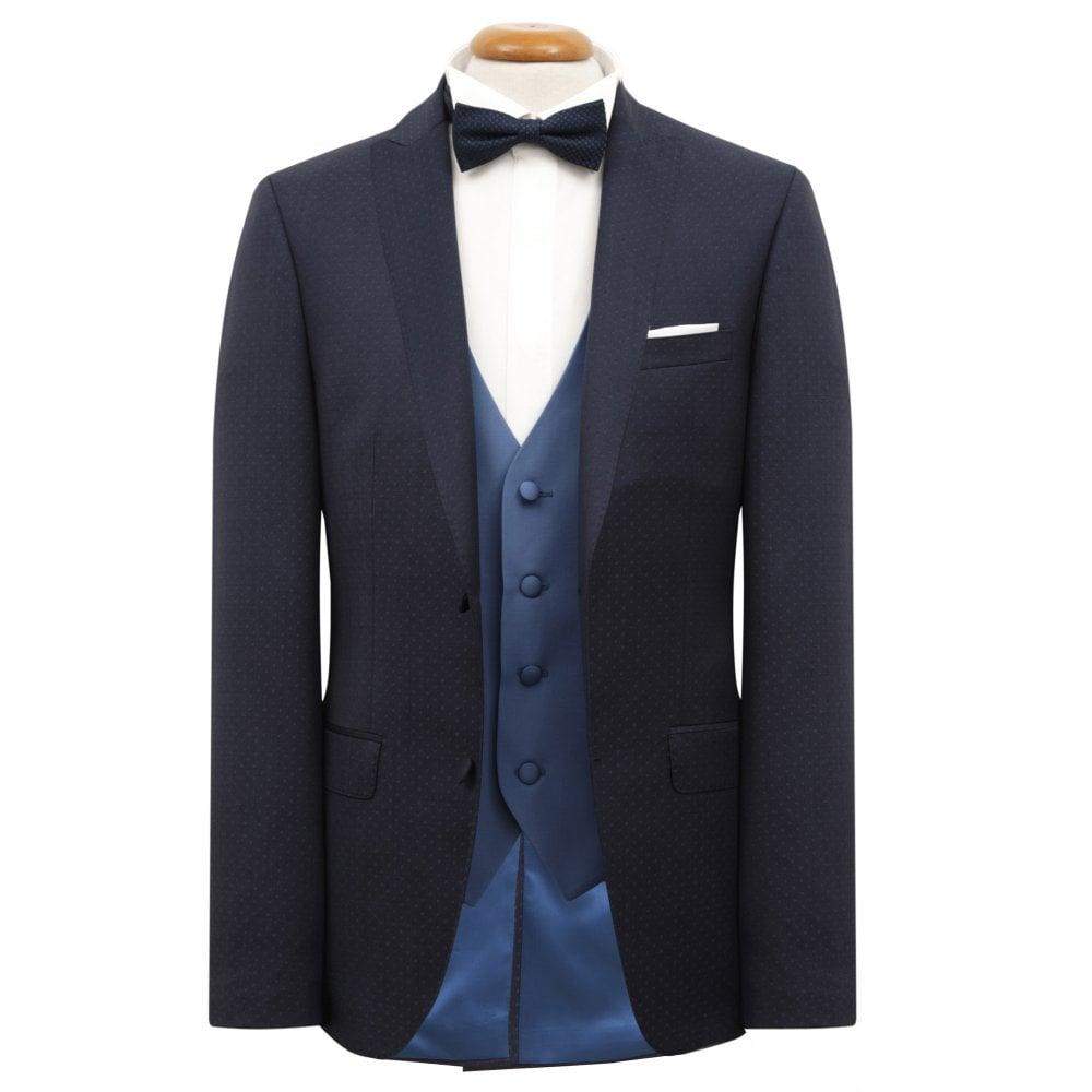 009f71094eaf Tom Frank Patterned Suit with Vest Regular Fit (Drop 6) Blue 628 3
