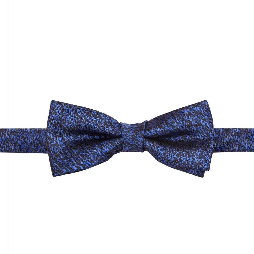 fcc21a34d932 HUGO Italian-made Patterned Bow Tie Blue 50384022-410