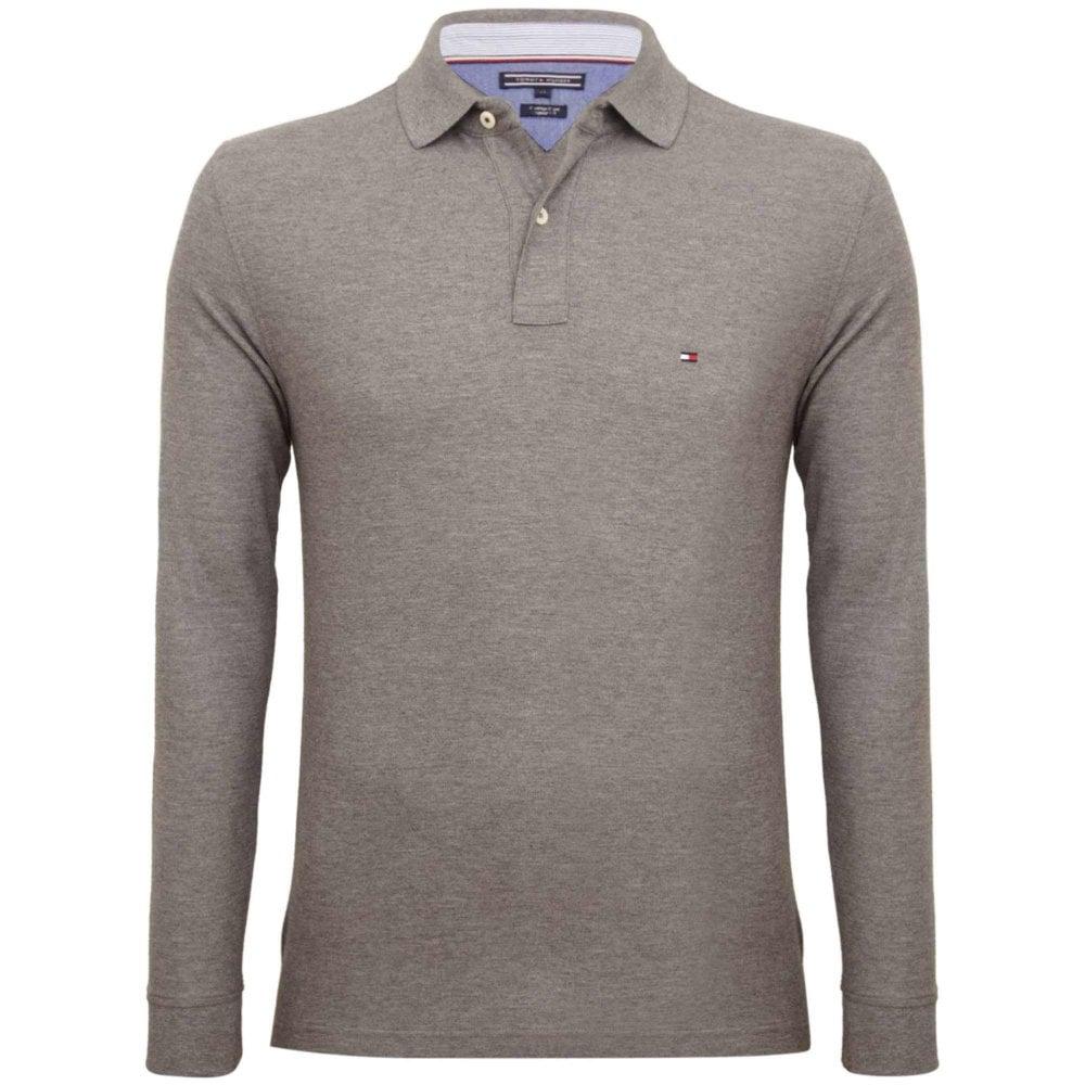 0cb85a664a790 Tommy Hilfiger Piqué Polo Shirt Regular Fit Grey MW0MW07687-043