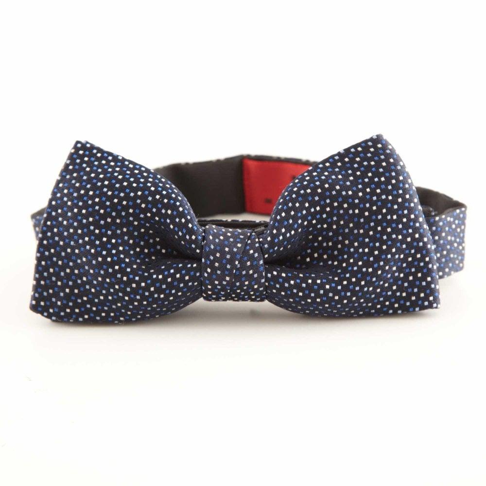 e5527474b011 HUGO Italian-made Bow Tie Blue 50383970-410