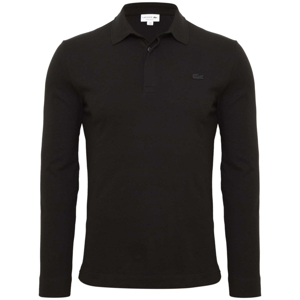 651eab89a8 Lacoste Paris Pique Polo Shirt Regular Fit Black PH9435-031