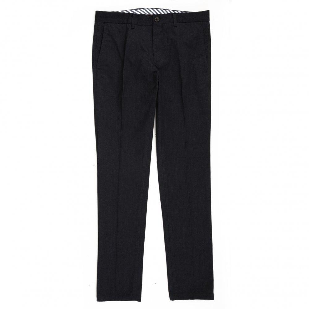 57f527d7df2a Tommy Hilfiger Chinos Pants Herringbone Denton Regular Fit Blue ...