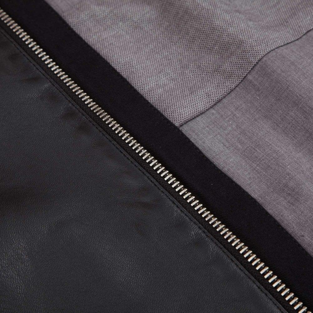 BOSS Biker Leather Jacket Jaysee Slim Fit Black 50391694-001 402311603a7