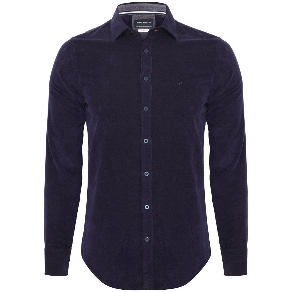 Daniel Hechter Corduroy Shirt Slim Fit Blue 60500 182629-690 c36835c2d79