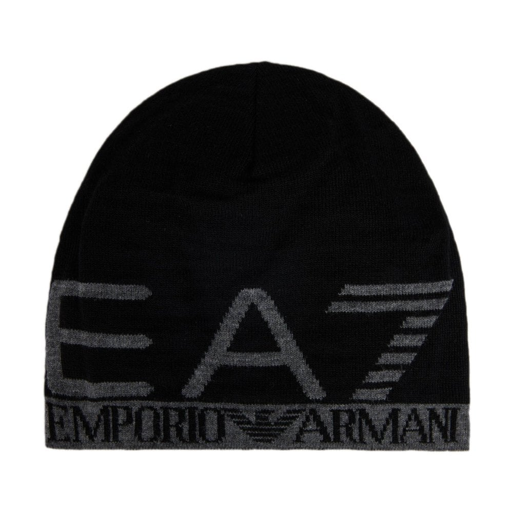 EA7 Knitted Beanie Black 2755608A301-0020 99fe2c23131