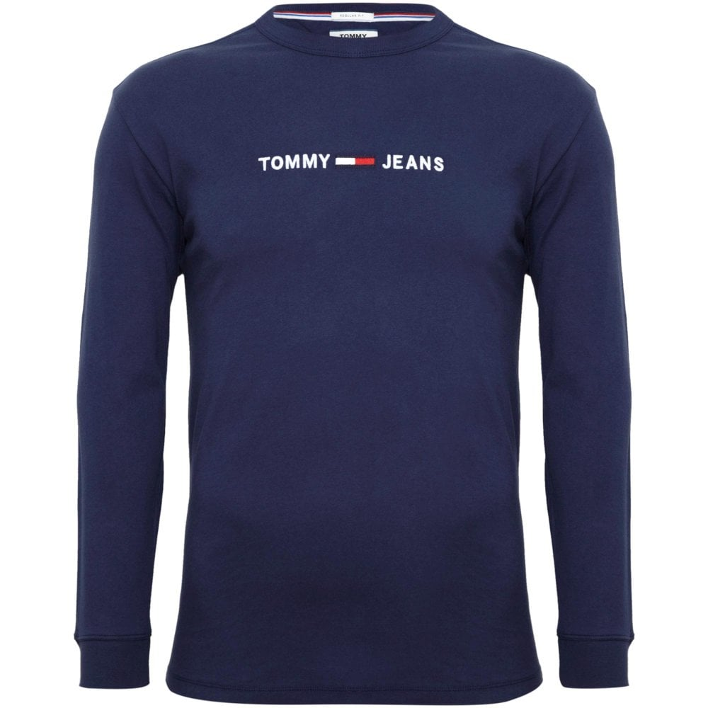 9002b6343b0 Tommy Hilfiger T-Shirt with Embroidery Regular Fit Blue DM0DM05331-002
