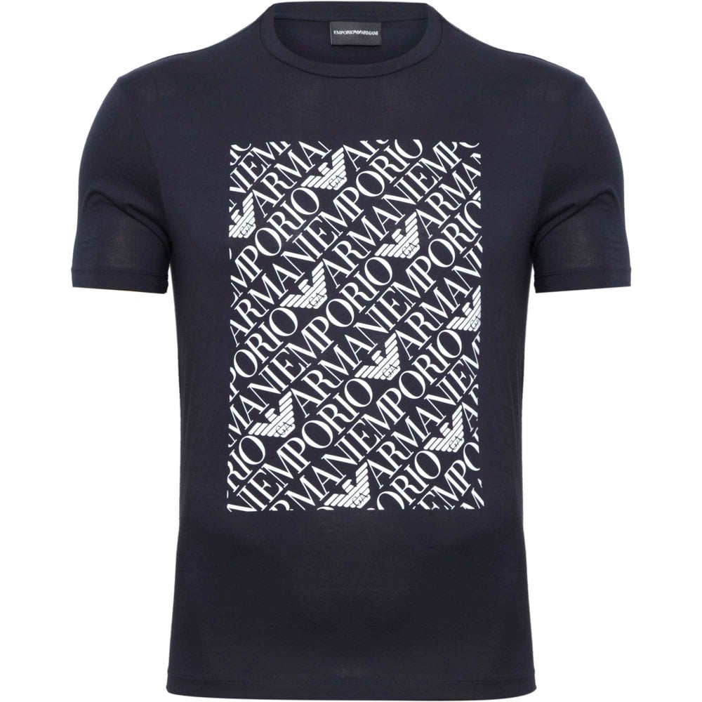 a74b1d7587d5 Emporio Armani T-shirt with Stamp Regular Fit 3G1TA31JNQZ-0922