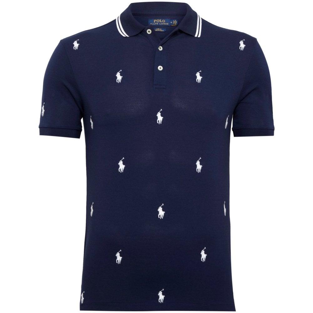 Polo Slim Patterned Shirt Fit Pique Pony kZXPiu
