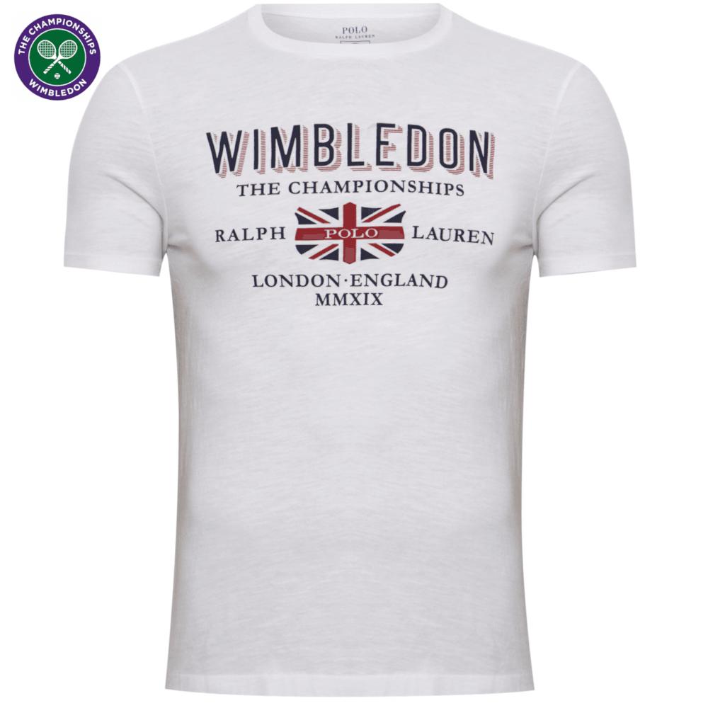 9961c1a572 Ralph Lauren Wimbledon Printed T-Shirt Custom Slim Fit