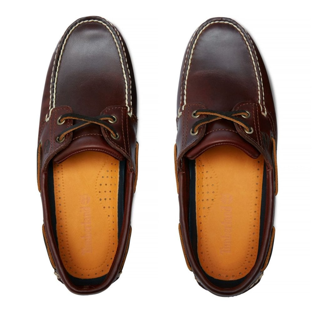 2fef1ad75f96 Timberland Leather Shoe with Laces 2-Eye Boat 25077-214