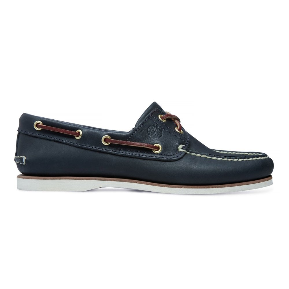 1a8a5c8fba9b Timberland Leather Shoe with Laces Boat 2-Eye 074036-484