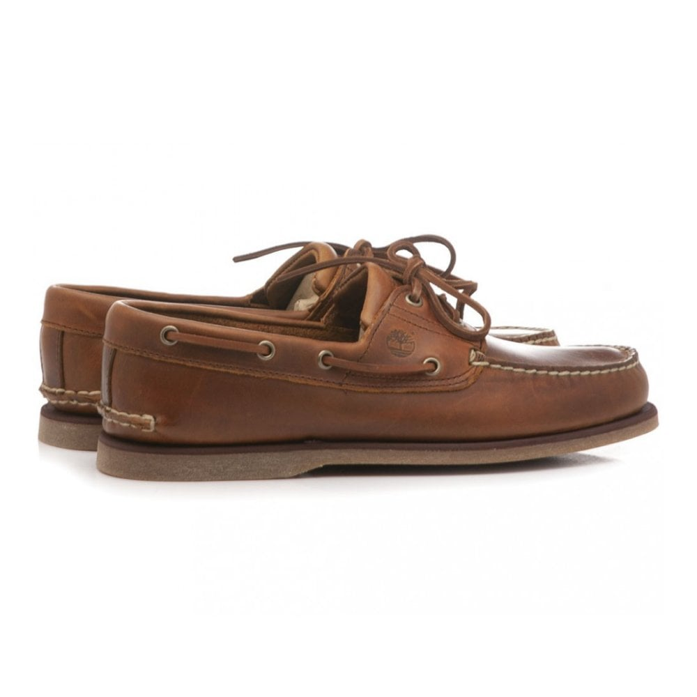 b10c482cea63 Timberland Leather Shoe with Laces 2-Eye Boat 0A232X-F74
