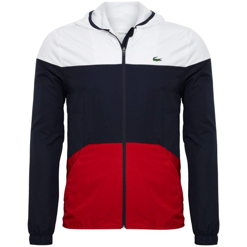 7e727f8bf Lacoste Lacoste Sport Hooded Colourblock Tennis Jacket Regular Fit