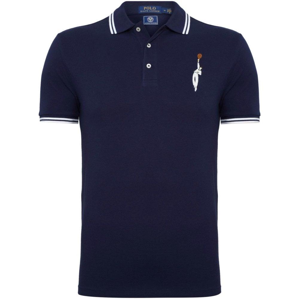 2a682b67d7 Ralph Lauren Ralph Lauren Wimbledon Pique Polo Shirt Custom Slim Fit
