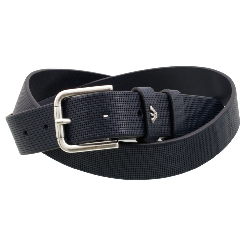 fde5872833 Armani Jeans Blue Leather Belt with Micro-print 93116 7Α831
