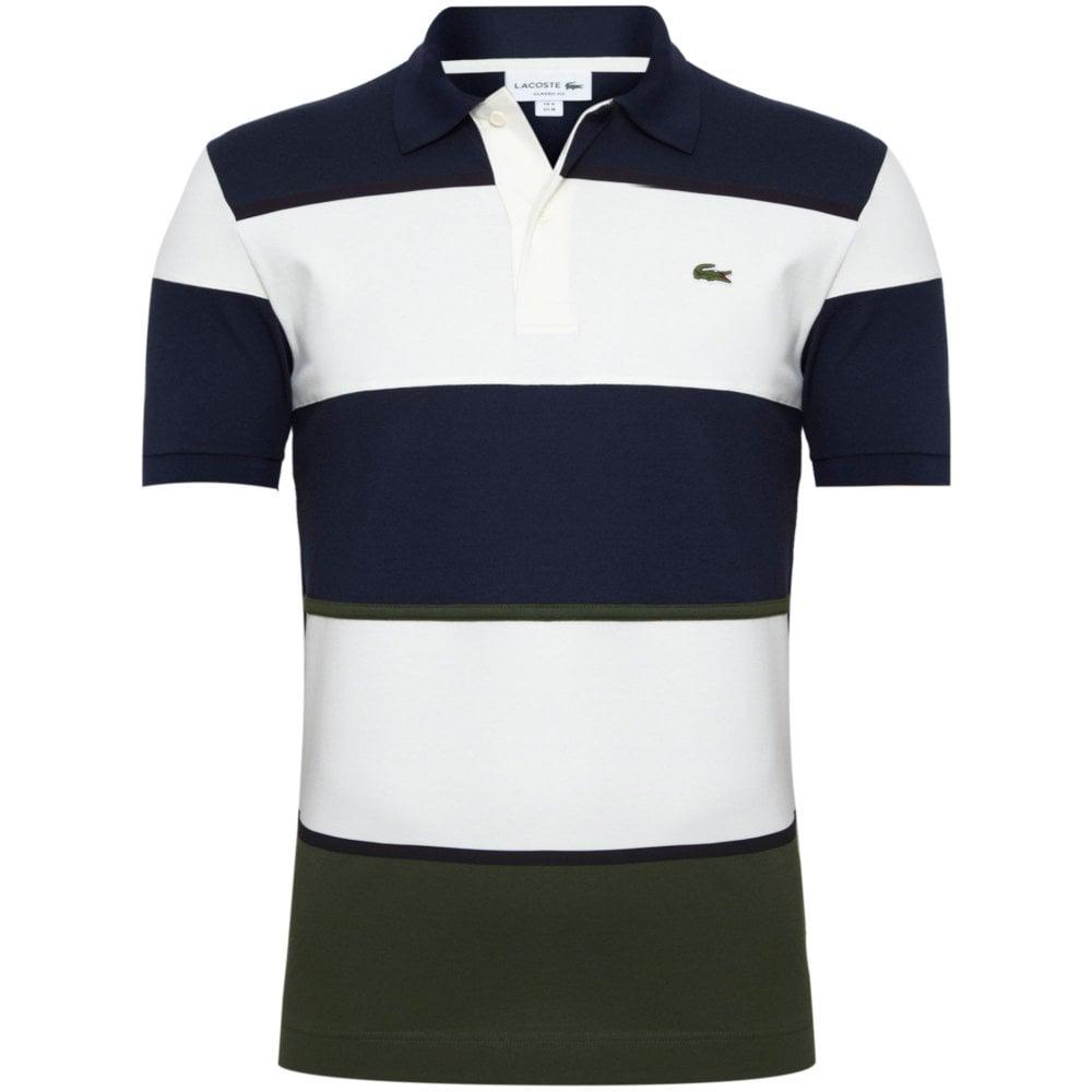 reputable site 50b88 87c07 Lacoste Lacoste Pique Polo Shirt Colorblock Regular Fit