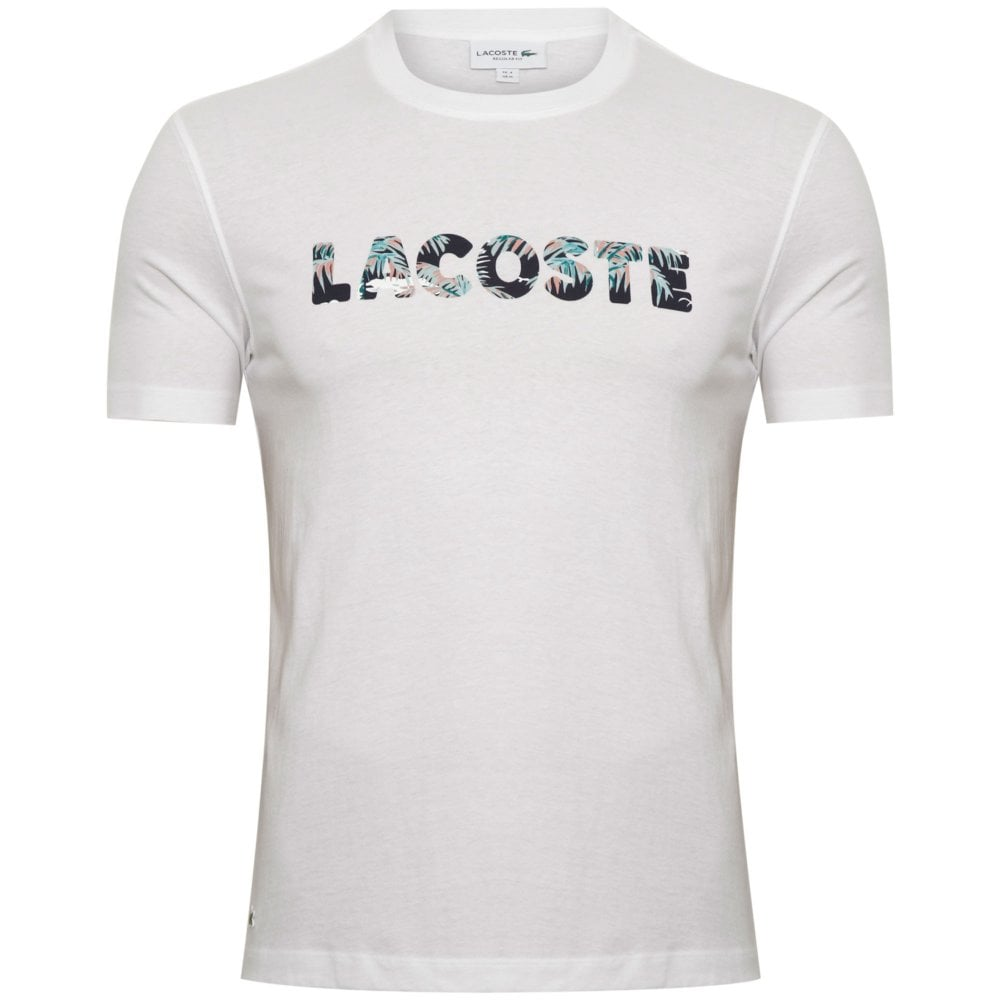 7f3756e314b8 Lacoste Hawaiian Lettering T-shirt Regular Fit TH4358-166