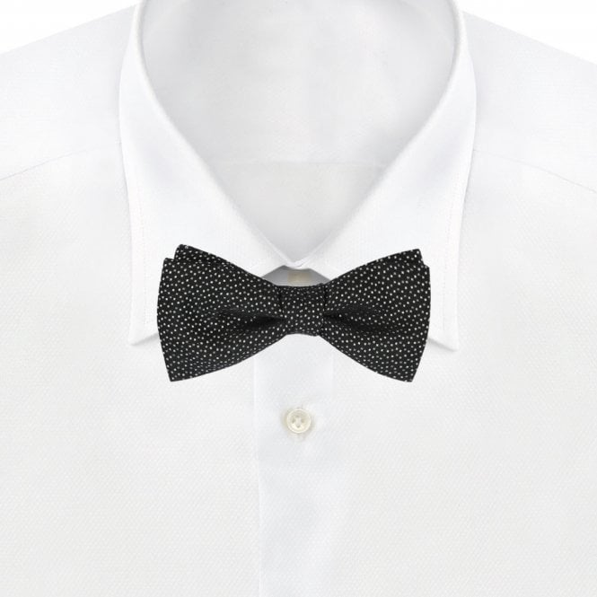a2f626762541 HUGO Italian-made Bow Tie Black 50383970-001